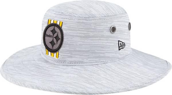 New Era Men's Pittsburgh Steelers Grey Sideline 2021 Training Camp Panama Bucket Hat product image