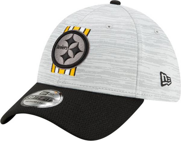New Era Men's Pittsburgh Steelers Grey Sideline 2021 Training Camp 39Thirty Stretch Fit Hat product image