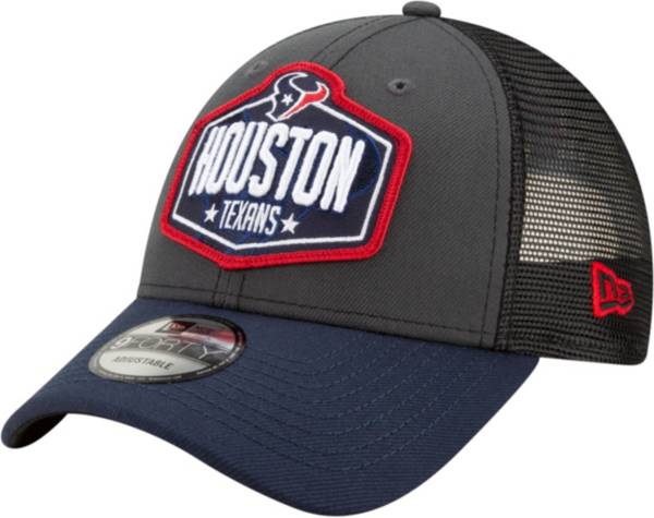 New Era Men's Houston Texans 2021 NFL Draft 9Forty Graphite Adjustable Hat product image