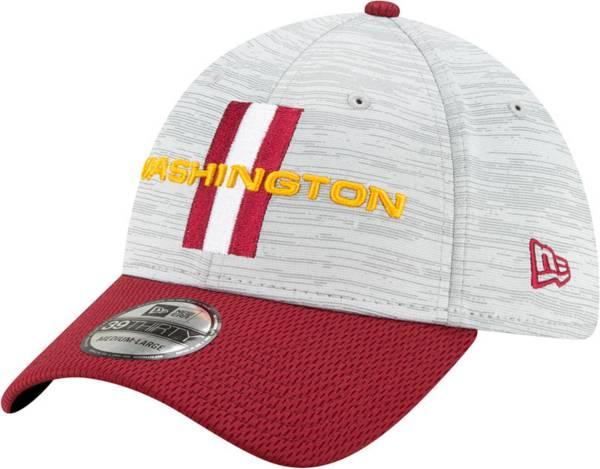 New Era Men's Washington Football Team Grey Sideline 2021 Training Camp 39Thirty Stretch Fit Hat product image