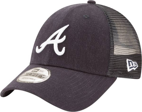 New Era Men's Atlanta Braves Navy 9Forty Trucker Adjustable Hat product image