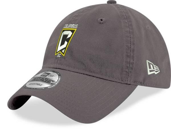 New Era Men's Columbus Crew Crest 9Twenty Grey Adjustable Hat product image