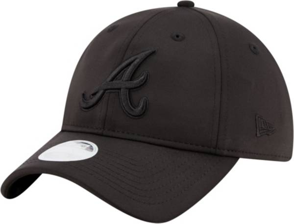 New Era Women's Atlanta Braves 9Twenty Black Sharp Adjustable Hat product image