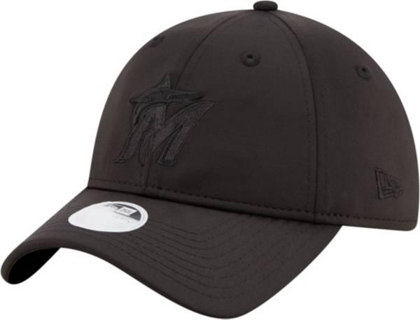 New Era Women's Miami Marlins 9Twenty Black Sharp Adjustable Hat product image
