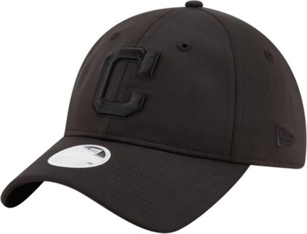 New Era Women's Cleveland Indians 9Twenty Black Sharp Adjustable Hat product image