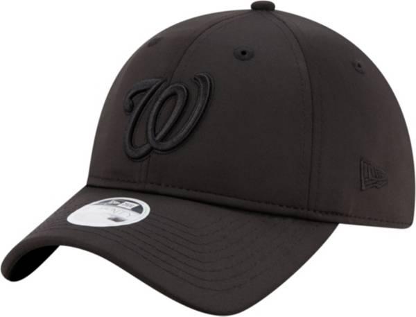 New Era Women's Washington Nationals 9Twenty Black Sharp Adjustable Hat product image