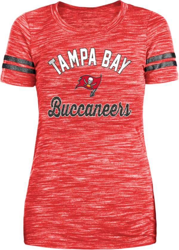 New Era Women's Tampa Bay Buccaneers Space Dye Glitter Red T-Shirt product image
