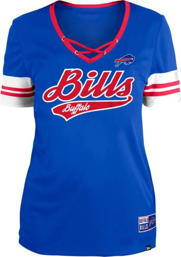 New Era Women's Buffalo Bills Royal Lace-Up V-Neck T-Shirt product image