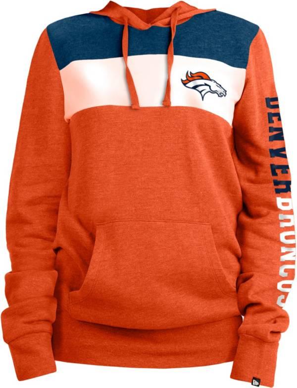 New Era Women's Denver Broncos Fleece Orange Pullover Hoodie product image