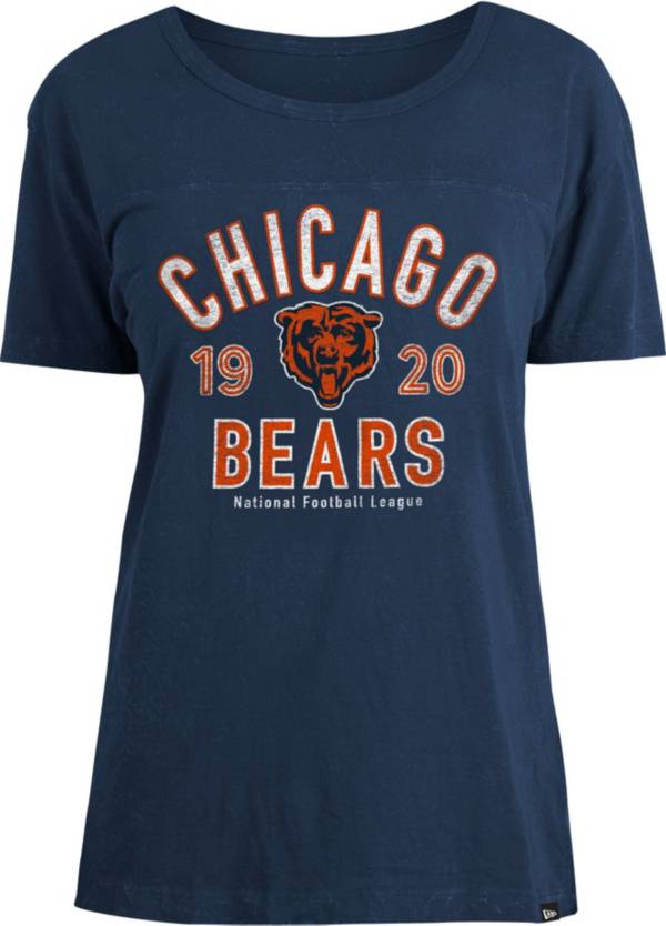 New Era Women's Chicago Bears Navy Mineral Wash T-Shirt product image