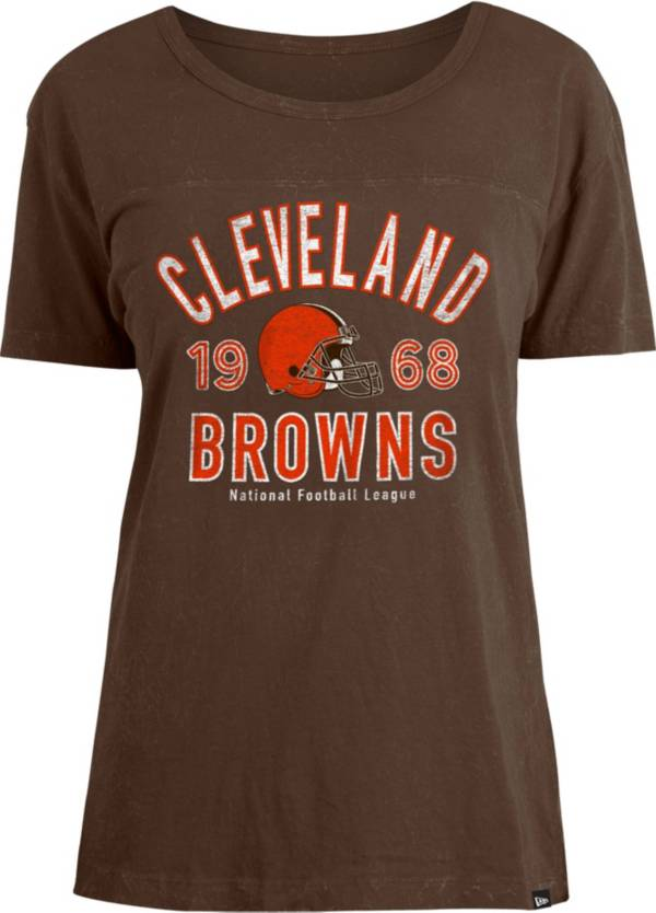 New Era Women's Cleveland Browns Brown Mineral Wash T-Shirt product image