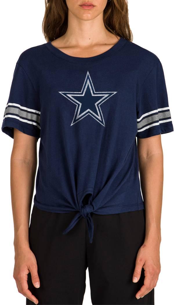 New Era Women's Dallas Cowboys Front Tie Navy T-Shirt product image