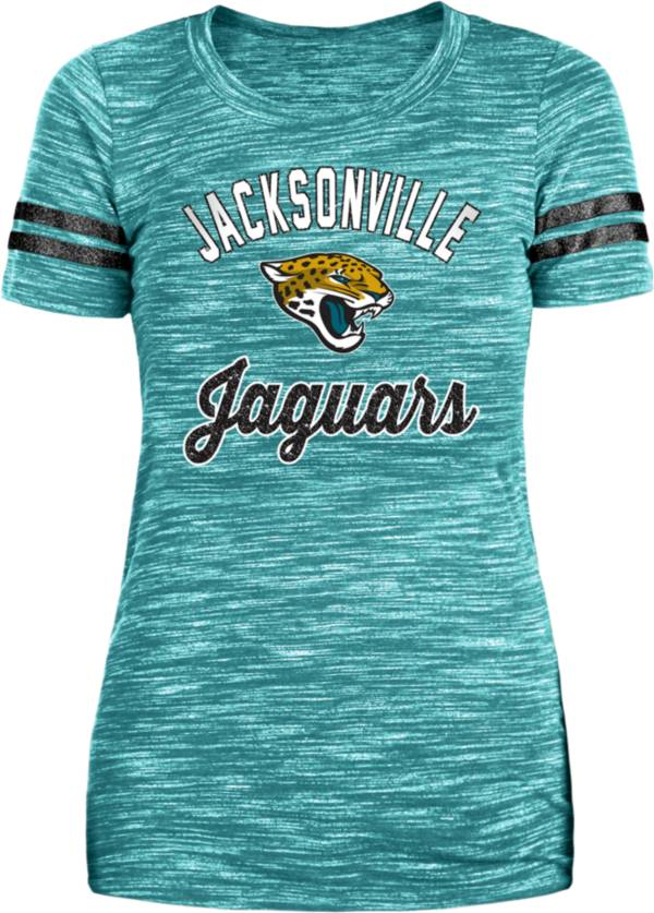 New Era Women's Jacksonville Jaguars Space Dye Glitter Teal T-Shirt product image