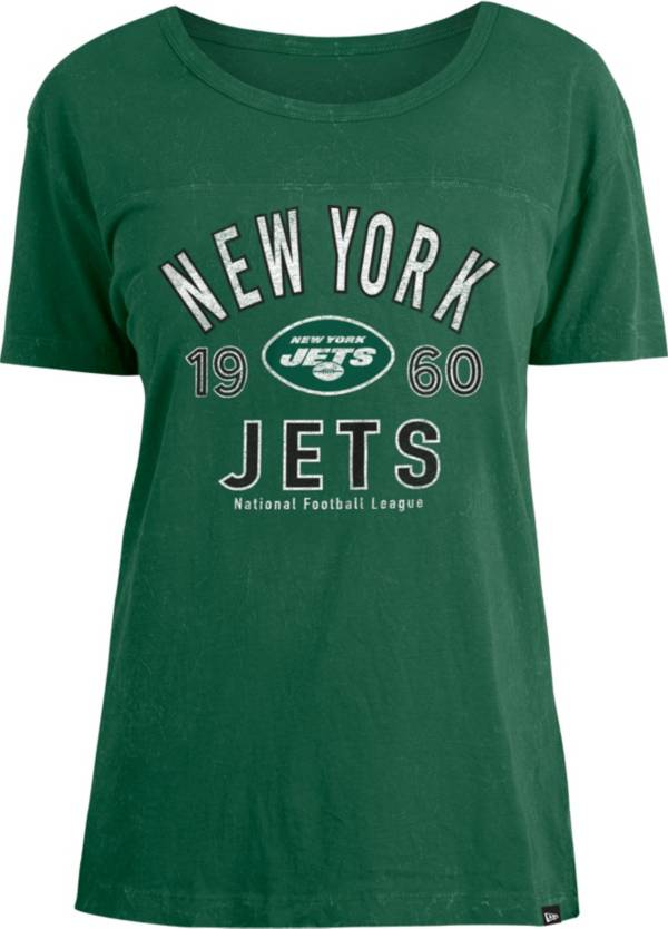 New Era Women's New York Jets Green Mineral Wash T-Shirt product image