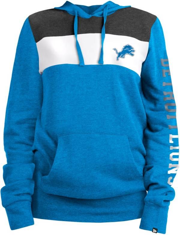 New Era Women's Detroit Lions Fleece Blue Pullover Hoodie product image