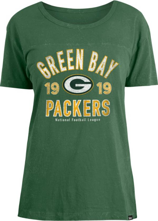 New Era Women's Green Bay Packers Green Mineral Wash T-Shirt product image