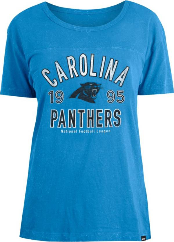New Era Women's Carolina Panthers Blue Mineral Wash T-Shirt product image