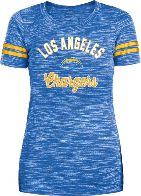 New Era Women's Los Angeles Rams Space Dye Glitter Royal T-Shirt product image