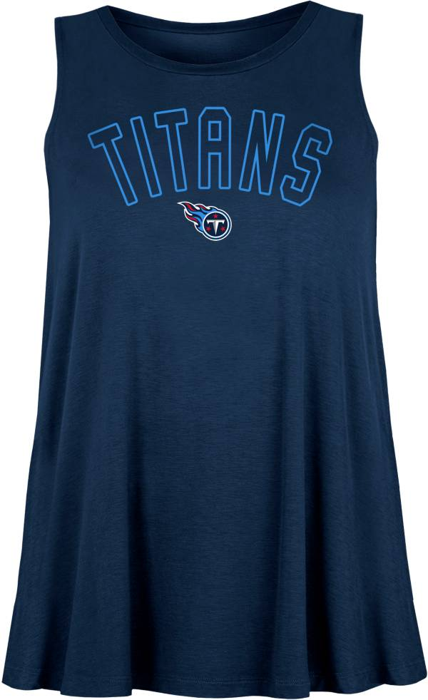 New Era Women's Tennessee Titans Rayon Spandex Navy Tank Top product image