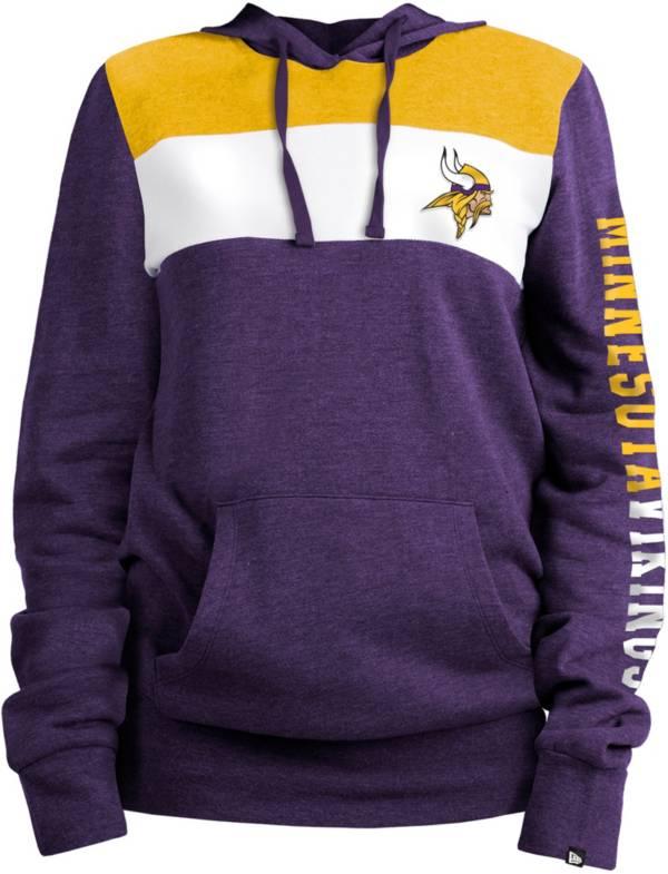 New Era Women's Minnesota Vikings Fleece Purple Pullover Hoodie product image