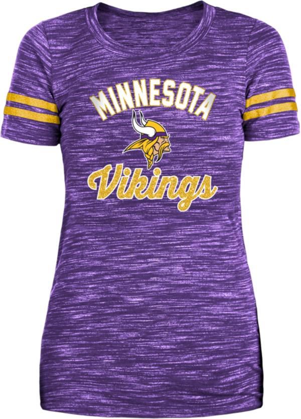 New Era Women's Minnesota Vikings Space Dye Glitter Purple T-Shirt product image