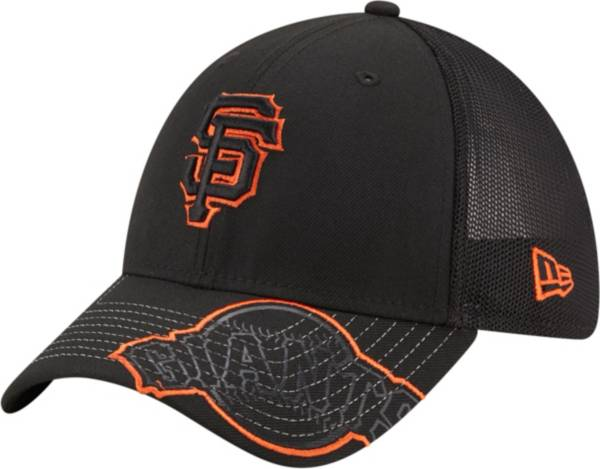 New Era Youth San Francisco Giants Black 39Thirty Stretch Fit Hat product image