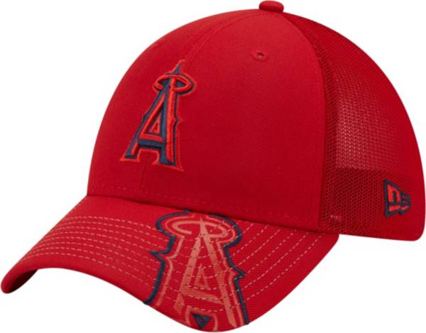 New Era Youth Los Angeles Angels Red 39Thirty Stretch Fit Hat product image