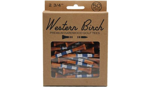 """Western Birch 2.75"""" The Big T II Striped Golf Tees – 50 Pack product image"""