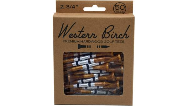 """Western Birch 2.75"""" Silver Bullet Tees – 50 Pack product image"""