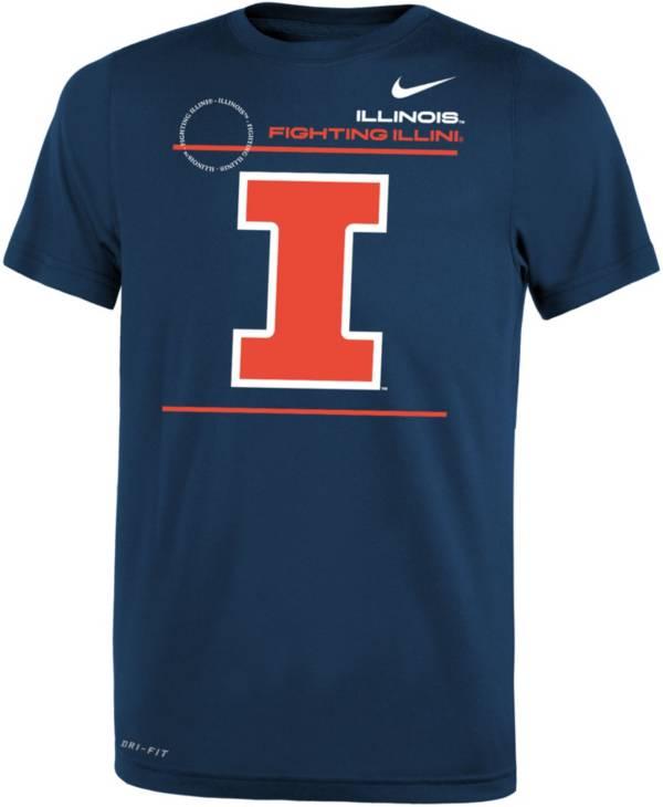 Nike Youth Illinois Fighting Illini Blue Dri-FIT Legend T-Shirt product image