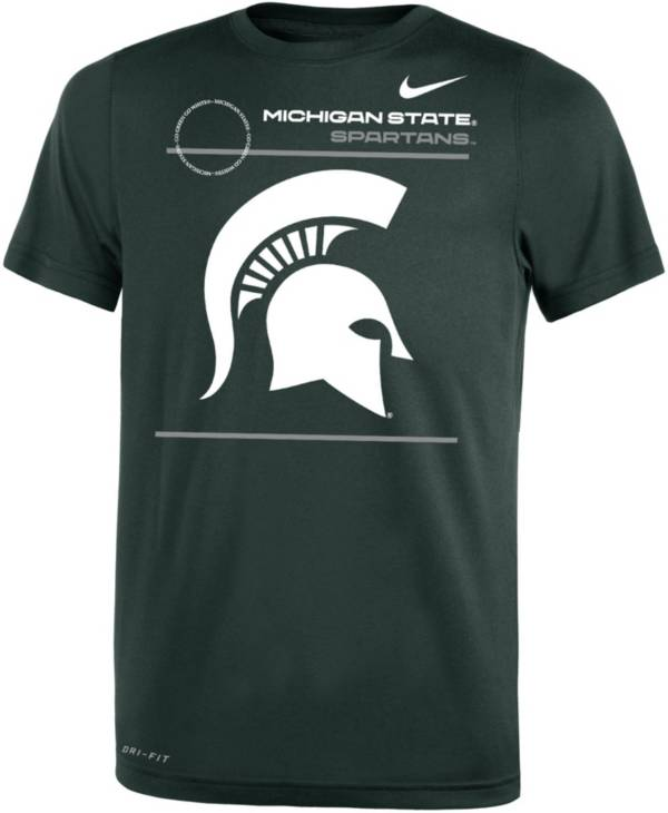 Jordan Youth Michigan State Spartans Green Dri-FIT Legend T-Shirt product image