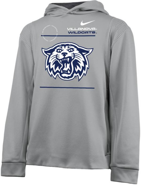 Nike Youth Villanova Wildcats Grey Therma Football Sideline Pullover Hoodie product image