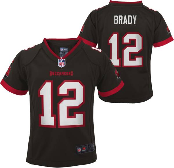 Nike Little Kid's Tampa Bay Buccaneers Tom Brady #12 Pewter Game Jersey product image