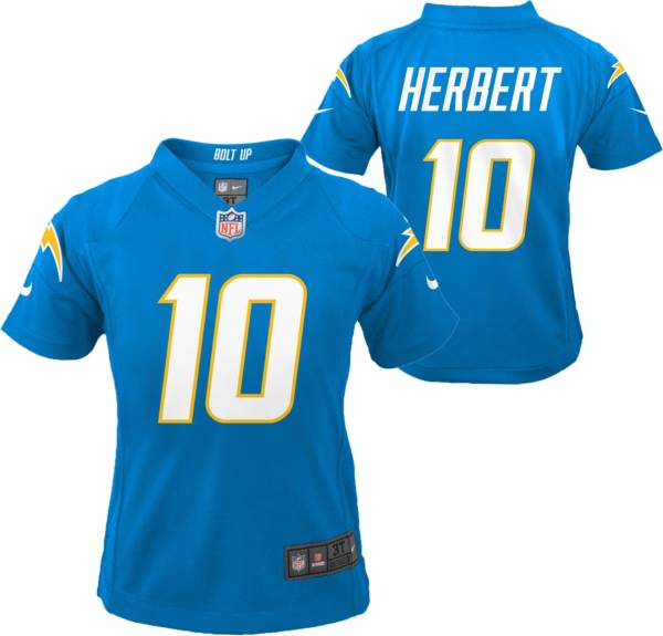 Nike Little Kid's Los Angeles Chargers Justin Herbert #10 Blue Game Jersey product image