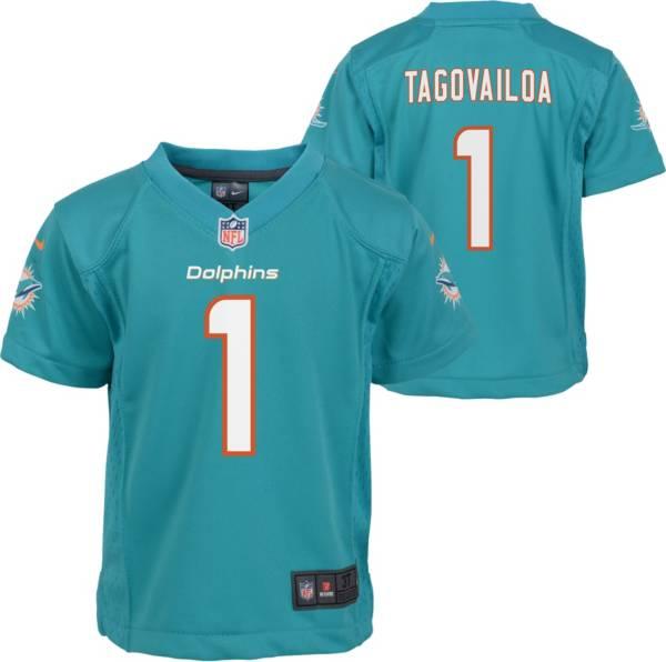 Nike Little Kid's Miami Dolphins Tua Tagovailoa #1 Aqua Game Jersey product image