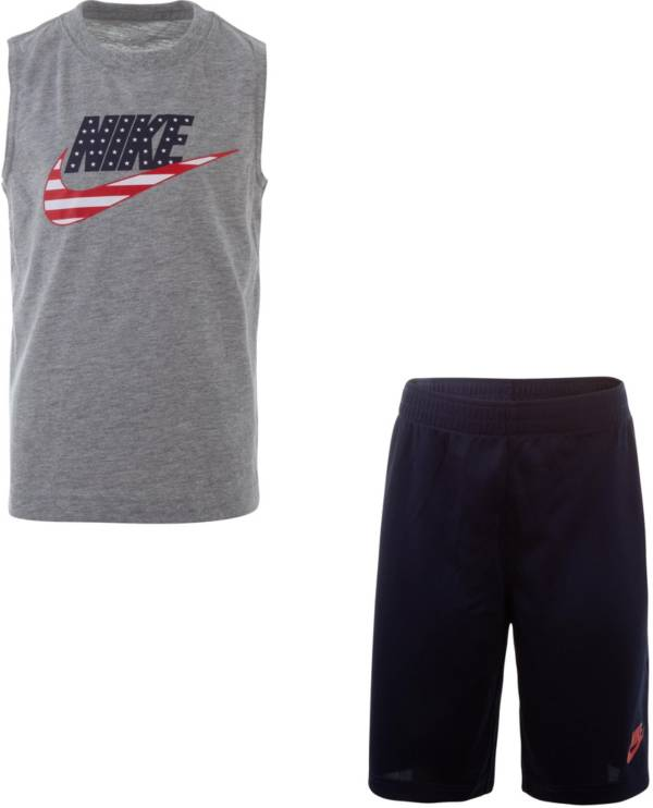 Nike Little Boys' Americana Muscle Tank Top and Shorts Set product image