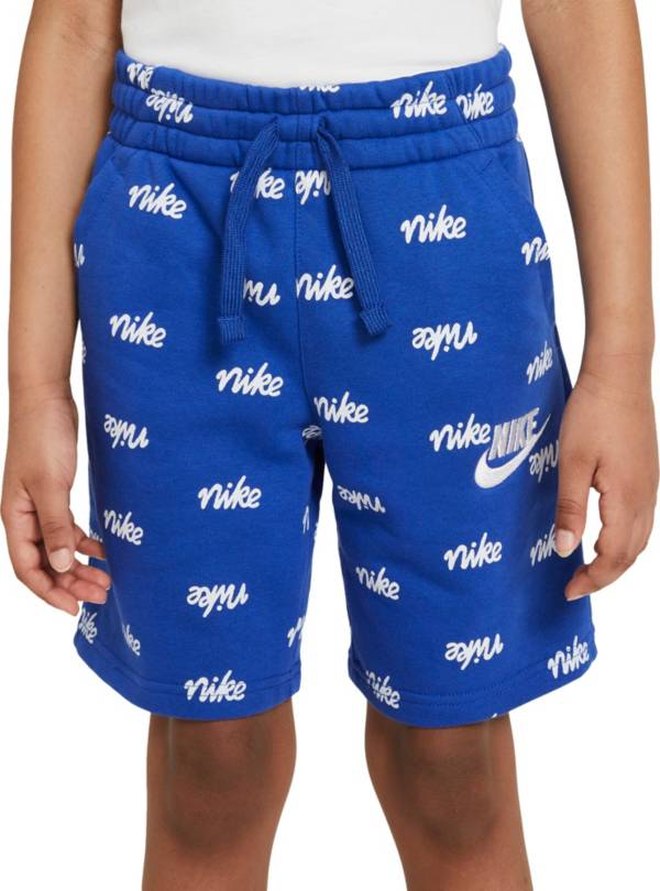 Nike Boys' Sportswear Fleece All Over Print Script Shorts product image