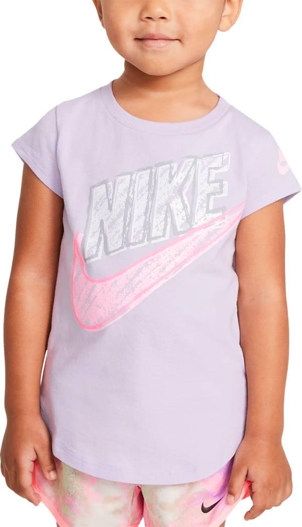 Nike Toddler Girls' Sidewalk Chalk Logo Graphic T-Shirt product image