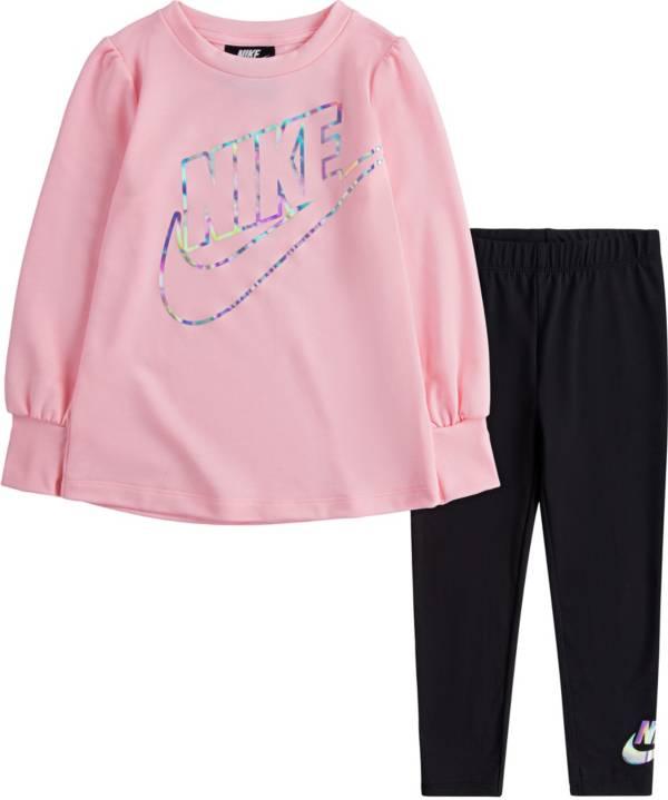 Nike Toddler Girls' Iridescent Fleece Top and Leggings Set product image