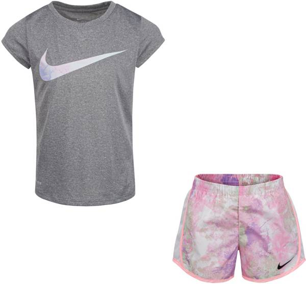 Nike Little Girls' Dri-FIT Just Do It T-Shirt and Tempo Shorts Set product image
