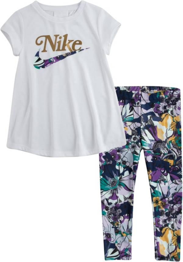Nike Little Girls' Studio Floral Tunic and Leggings Set product image