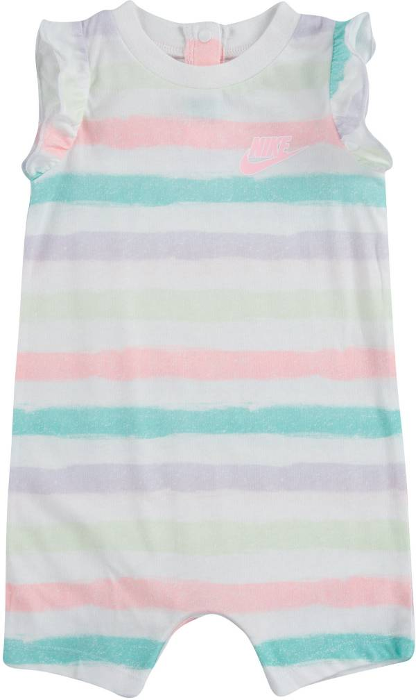 Nike Infant Girls' Sidewalk Chalk Striped Ruffle Romper product image