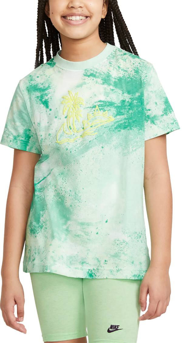 Nike Girls' Sportswear Tie Dye Graphic T-Shirt product image