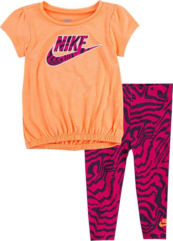 Nike Toddler Bubble Top and Zebra Print Leggings Set product image
