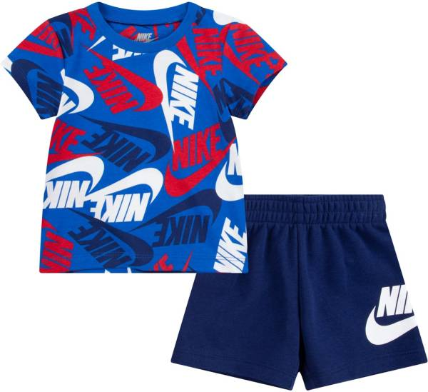 Nike Infant Boys' Sportswear Toss All Over Print T-Shirt and Shorts Set product image
