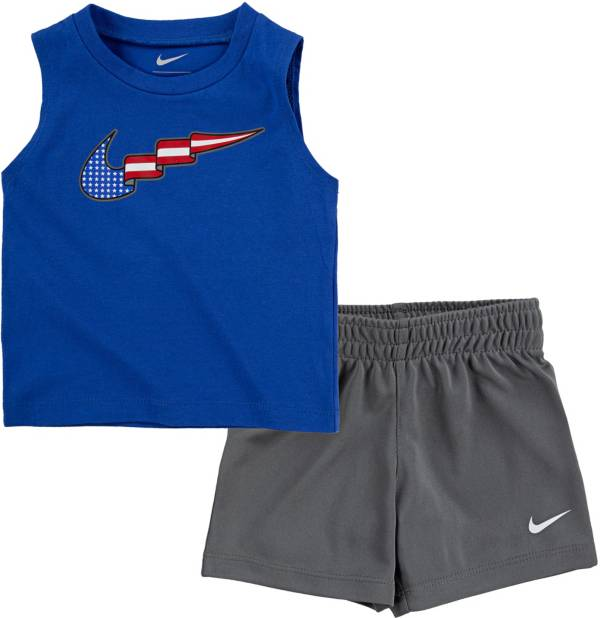 Nike Infant Boys' American Flag Swoosh Tank Top and Shorts Set product image