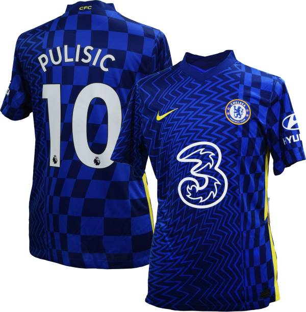 Nike Youth Chelsea FC '21 Christian Pulisic #10 Breathe Stadium Home Replica Jersey product image
