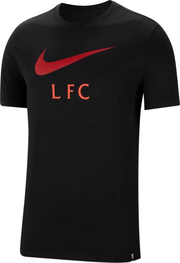 Nike Men's Liverpool Swoosh Black T-Shirt product image
