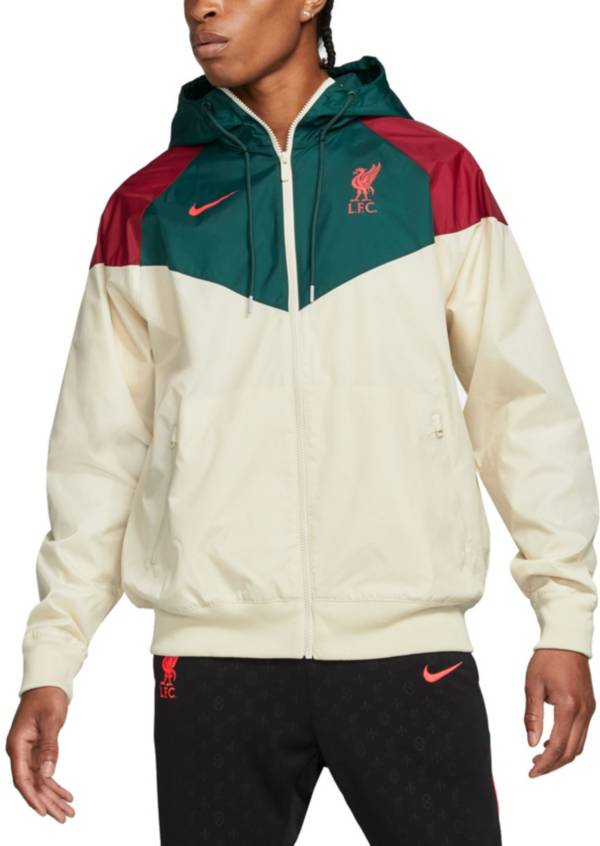 Nike Men's Liverpool FC Grey Windrunner Jacket product image