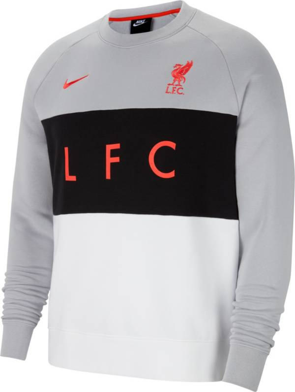 Nike Men's Liverpool Air Max Grey Pullover Crew Hoodie product image